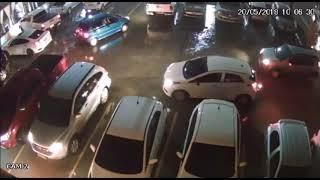 Video mostra bandido se passando por manobrista do Deck para roubar carro de juiz