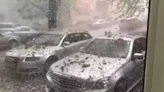 Супер мощный Ледяной ГРАД снятый на камеру! | Убивает Машины| Biggest HAILSTORM Compilation