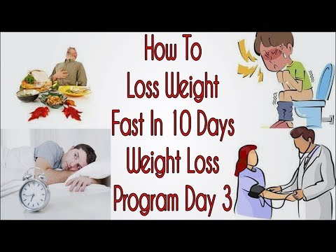 How To Lose Weight Fast In 10 Days | Weight Loss Program Day 3