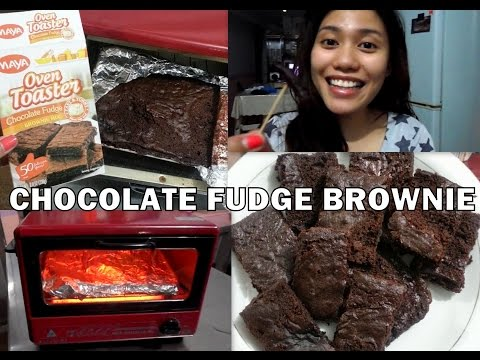 Make Chocolate Fudge Brownies using OVEN TOASTER! :)