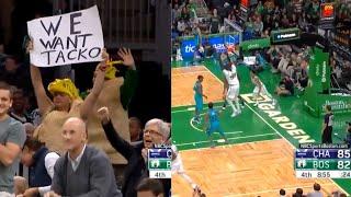 Tacko Fall Celtic Debut ALL PLAYS and DUNKS Fans Go CRAZY!! vs Hornets  2019 NBA Preseason
