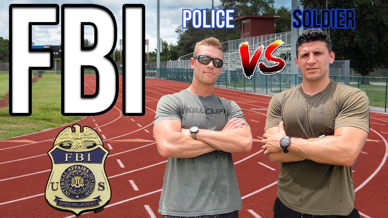 FBI Fitness test   Soldier VS Police Officer