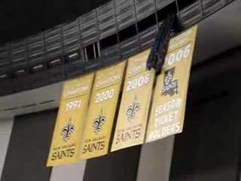 New Orleans Saints reveal 2006 NFC South Champions Flag