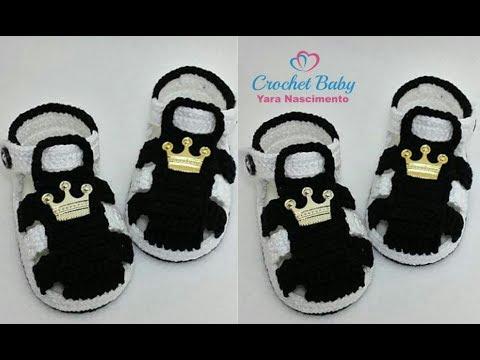 Sandalinha KAWÊ LUCAS de crochê - Crochet Baby Yara Nascimento