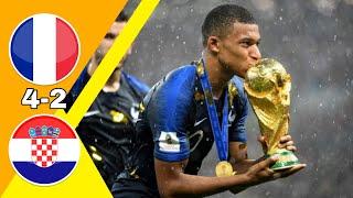 مباراة مجنونة/ فرنسا ~ كرواتيا 4-2 نهائي كأس العالم 2018 وجنون عصام الشوالي جودة عالية 1080i
