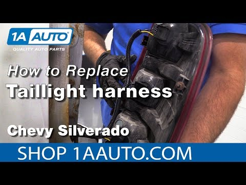 how to replace tail light harness 07-13 chevy silverado - youtube  youtube