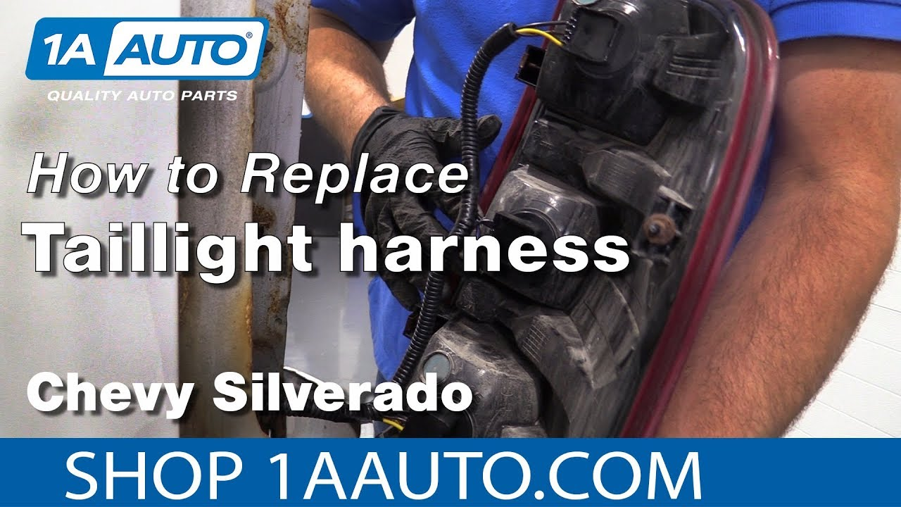 hight resolution of how to replace tail light harness 07 13 chevy silverado