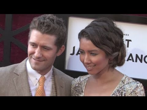 MATTHEW MORRISON spotted with fiancee RENEE PUENTE at James Franco Roast