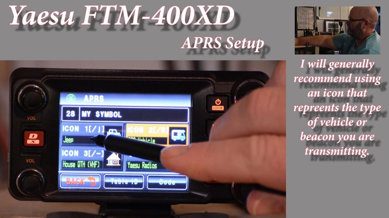 Yaesu FTM 400XD APRS Set Up