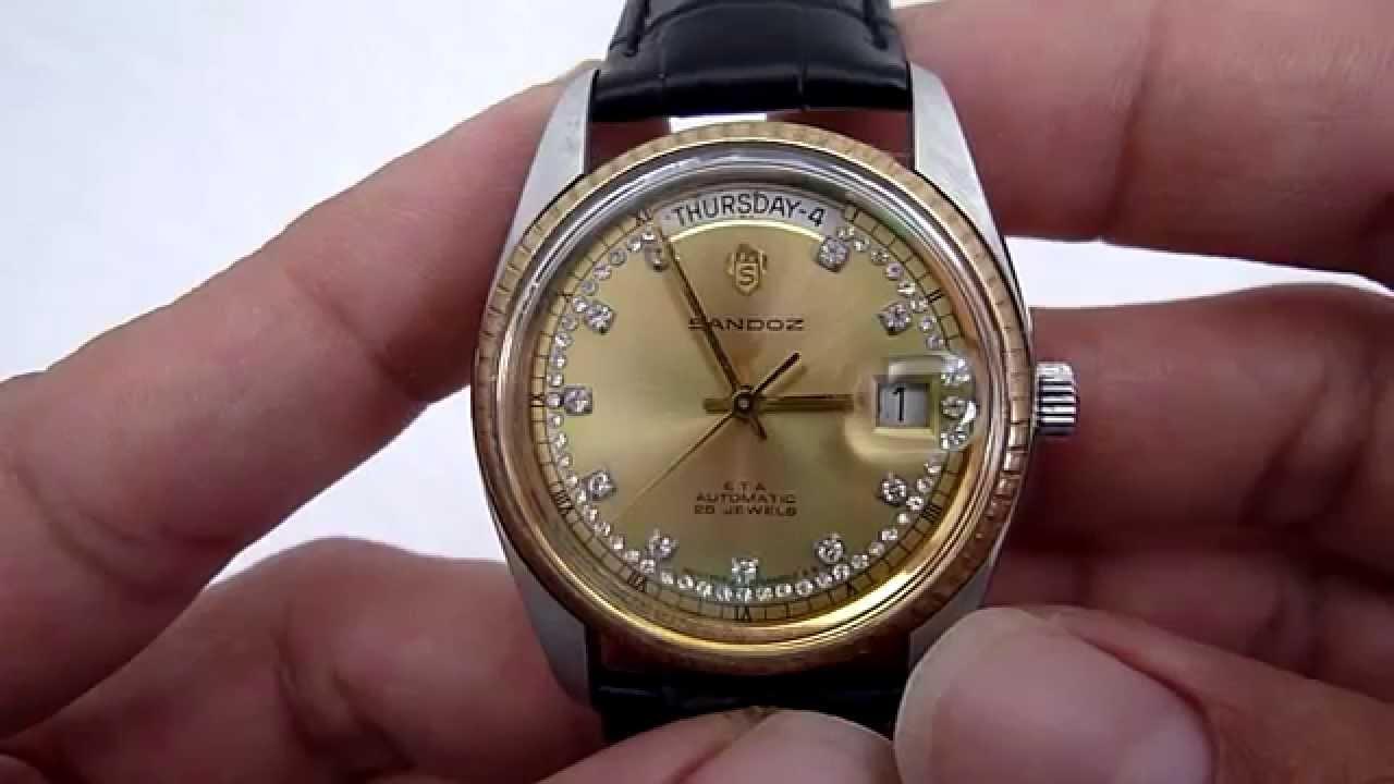 A La Venta Reloj Sandoz Automatico Para Caballero Youtube