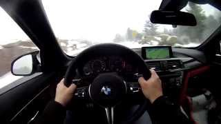 2015 BMW M4 Convertible Winter Test Drive