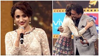 Trisha Krishnan & Prakash Raj Expressing Love On Each Other At South Awards Show