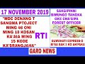 Garo News 17 November/ Bi'sa sak 3 ko an'paka aro gipin koborang