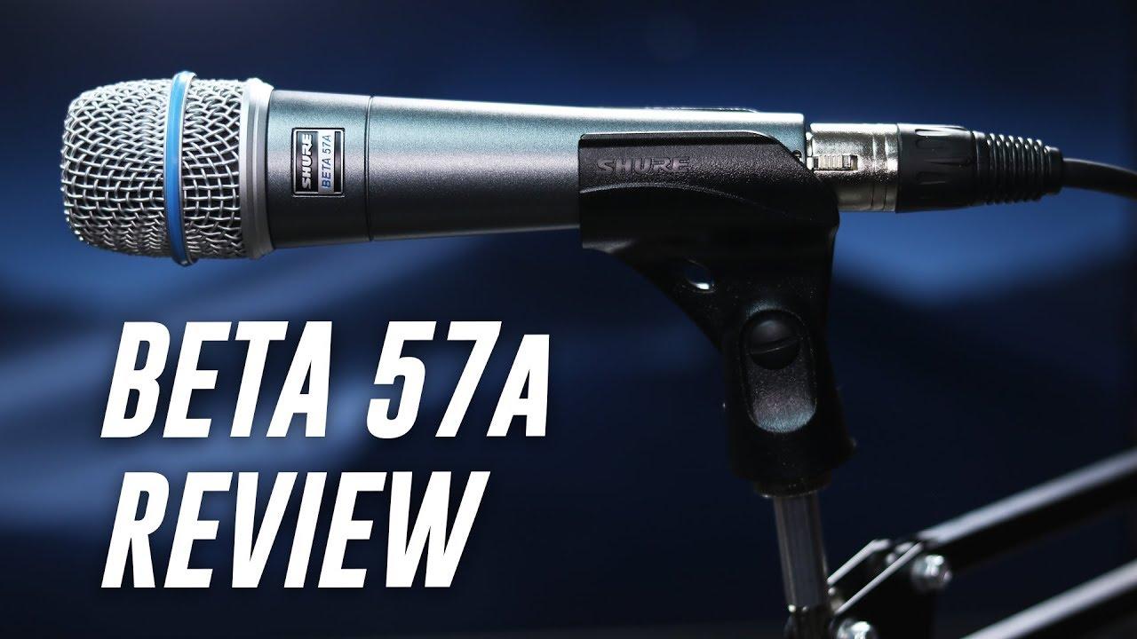 Shure Beta 57a Dynamic Mic Review / Test