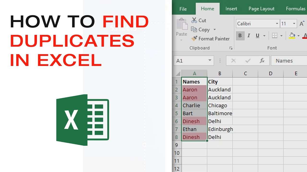How To Find Duplicates In An Excel Worksheet