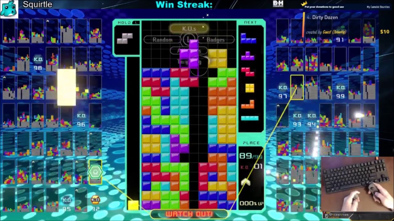 Tetris 99 Win with 15 Perfect Clears