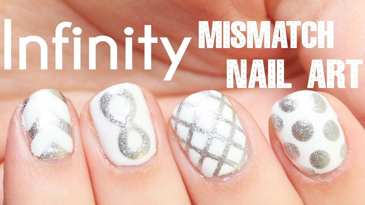 Mismatch Infinity Symbol Nail Art Totallycoolnails Youtube