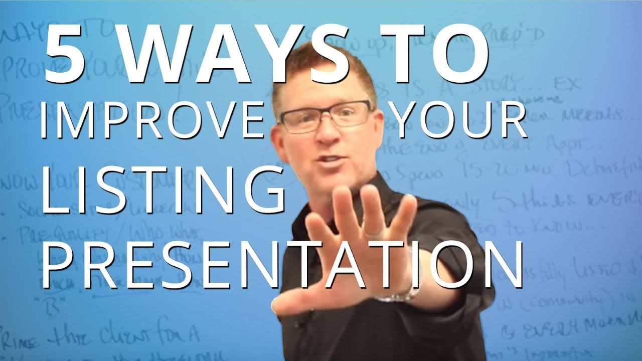 Download 5 Ways to Improve Your Listing Presentation Today   #TomFerryShow Episode 56