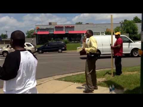 Street Preaching in Dayton, Ohio