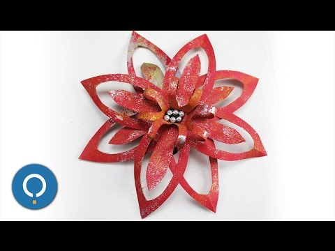 Diy Christmas Decorations Using Paper Paper Flower Youtube