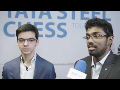 Anish Giri and Adhiban Baskaran on their draw in Round 12 - Tata Steel Chess 2017