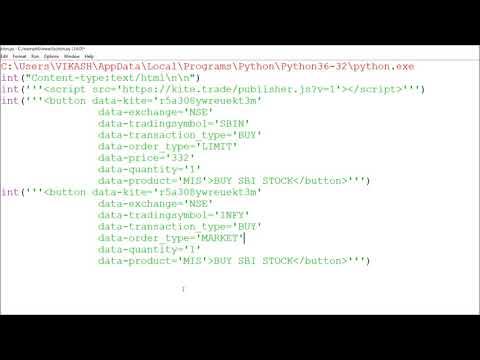 AlgoTrading from Free Publisher API Key via Python CGI Programming P.2