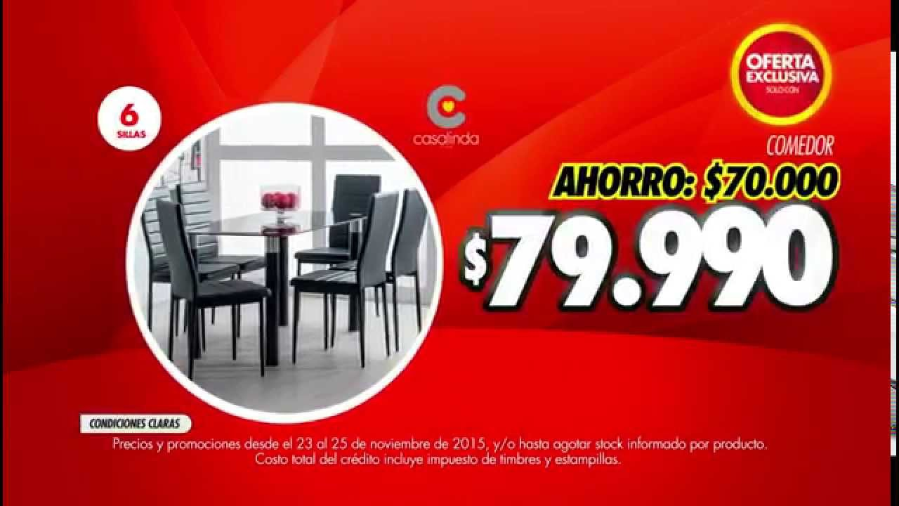 Abcdin comedor petunia 6 sillas youtube for Comedores en oferta