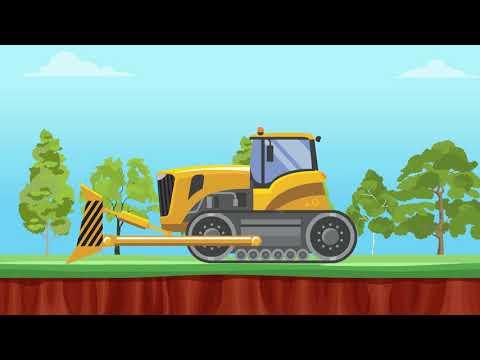 Bulldozer, Dump Truck, Coal Mining & Freight Train Video For Kids