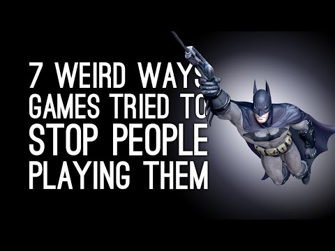 7 Weird Ways Games Tried to Stop People Playing Them