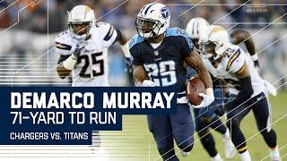 DeMarco Murray Breaks Amazing 71-Yard TD Run! | Chargers vs. Titans | NFL