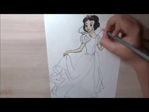 Рисунок №11. Принцессы Дисней. Белоснежка.