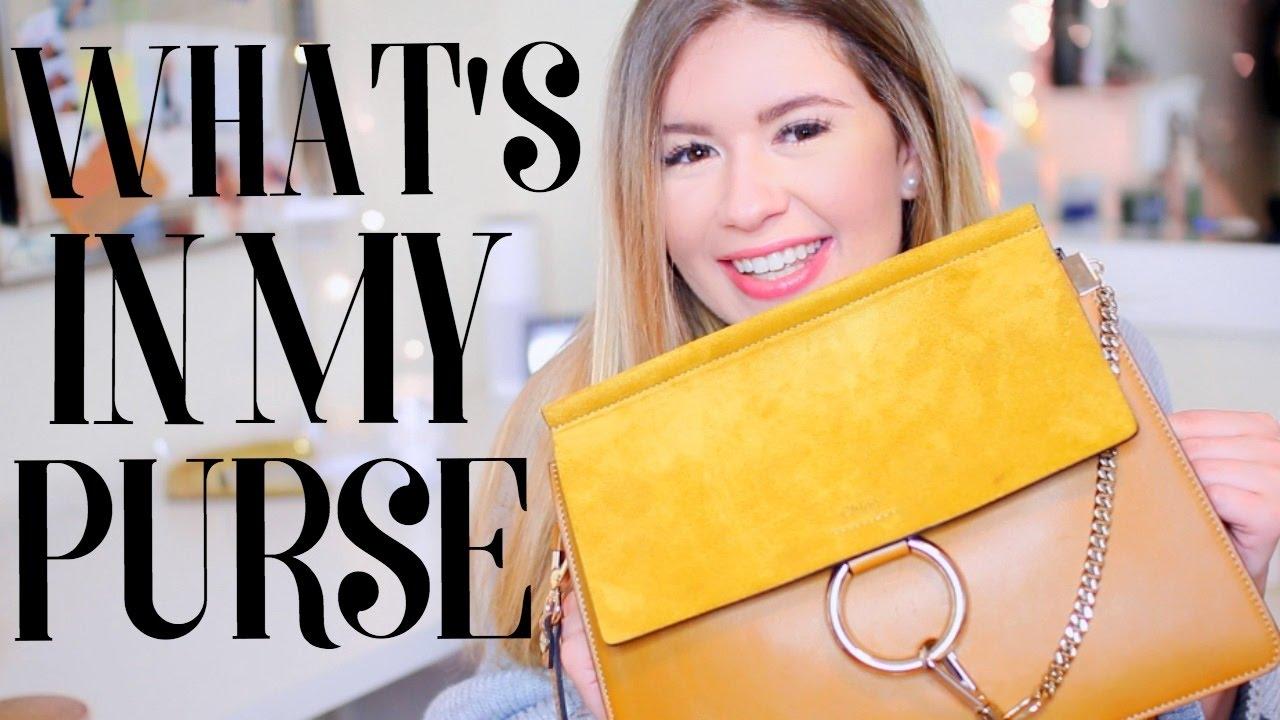 772e0ec4edbd78 What s In My Purse  Chloe Faye Medium Shoulder Bag - YouTube