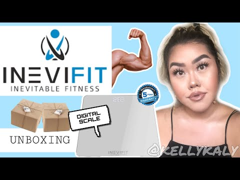 inevifit-digital-bathroom-scale-review-+-unboxing-|-kelly-kaly
