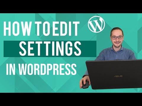 How to edit settings in Wordpress Tutorial thumbnail