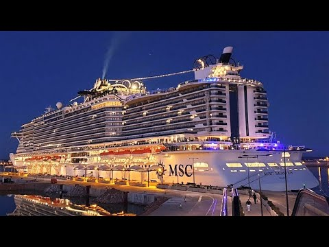 Cruise Ship MSC Seaview 2018 walking on board with DJI Osmo
