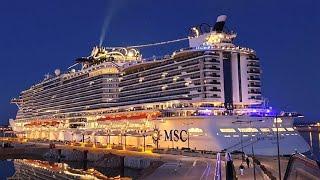 Cruise Ship MSC Seaview 2018 walking on board with DJI Osmo