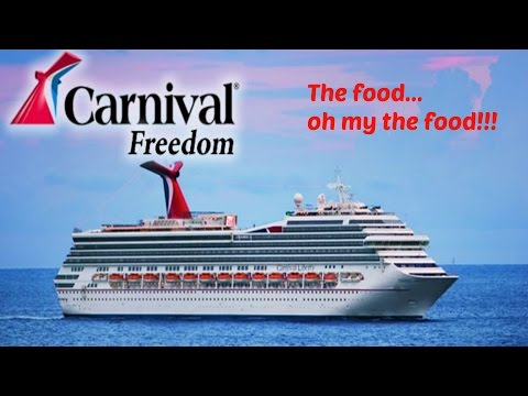 Carnival Freedom: The Food...Oh My the FOOD!!!
