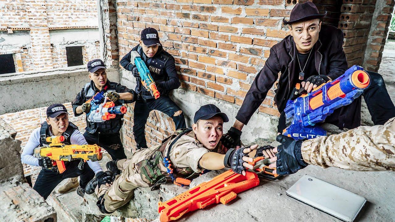 LTT Nerf War : Suicide Squad SEAL X Warriors Nerf Guns Fight Power Thief Dr Ken Crazy