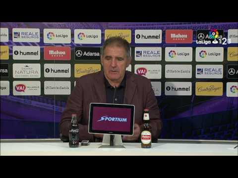 Rueda de prensa de Paco Herrera tras el Real Valladolid vs Elche CF (2-1)