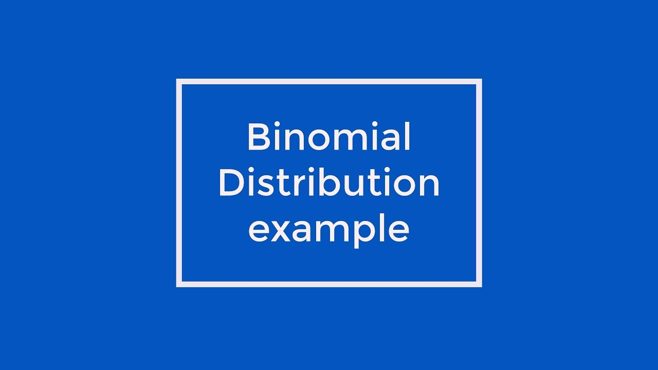 Probability problem solved by Binomial Distribution method : Engineering  Mathematics Videos