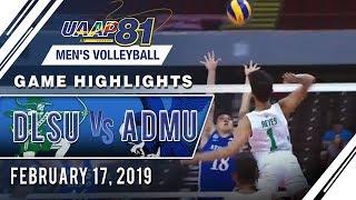 UAAP 81 MV: DLSU vs. ADMU | Game Highlights | February 17, 2019