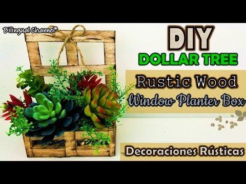 Dollar Tree DIY | Home Decor 2019 | Wooden Decor Ideas | Decoraciones Rusticas para el Hogar
