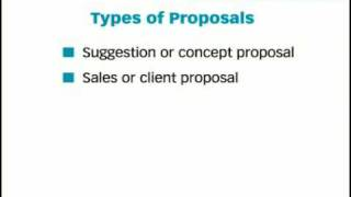 The Key Forms oḟ Business Writing: Proposals