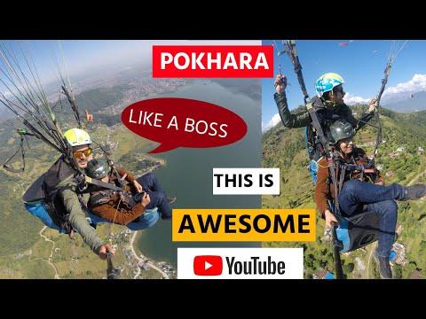 LIKE A BOSS - PARAGLIDING IN POKHARA   SARANGKOT   POKHARA TRIP [DAY 3]