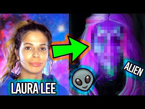 I Turned LAURA LEE into an ALIEN (that glows in the dark!)