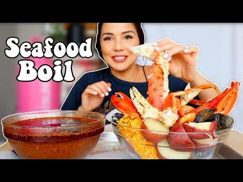 SEAFOOD BOIL (BLOVES SEAFOOD SAUCE) 먹방 MUKBANG