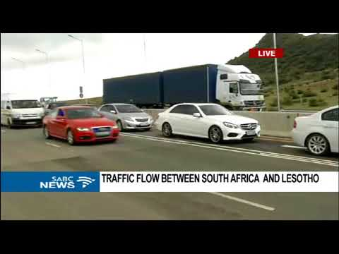 Traffic flow between South Africa and Lesotho
