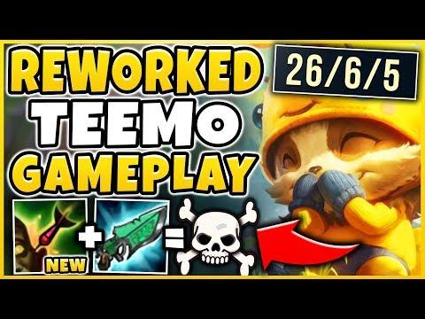 REWORKED TEEMO IS 100% BEYOND BROKEN! *NEW STEALTH ONE-SHOT* TEEMO REWORK  - League of Legends
