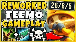 REWORKED TEEMO IS 100% BEYOND BROKEN! *NEW STEALTH ONE-SHOT* TEEMO REWORK  - League of Legends