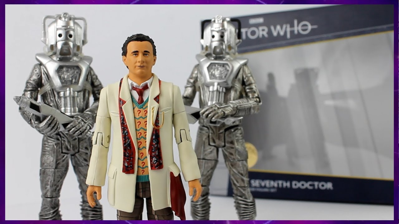 Doctor Who  Seventh Doctor  and Cybermen Silver Nemesis Collector Figure Set